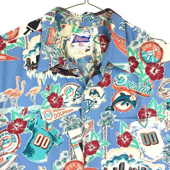 dc53b1b84 Reyn Spooner NFL Shirts | Reyn Spooner Mens Shirt Nfl Miami Dolphins ...
